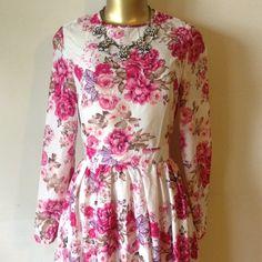 "Beautiful long floral dress Beautiful long floral dress.  Length 57.5 inches bust 32"" waist 26 Dresses Maxi"