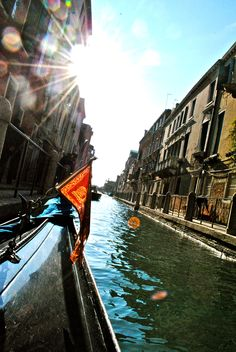 Venice, Italy. Viewed from a gondola.
