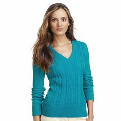 Chaps Solid Cable-Knit Sweater $22