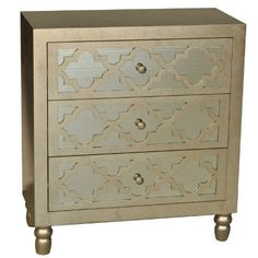 table for front entry    Crestview Collections Newcastle 3-Drawer Leaf Chest, Silver Crestview Collection http://www.amazon.com/dp/B00I3YUG7W/ref=cm_sw_r_pi_dp_9IjPtb0VX6AFWVP7