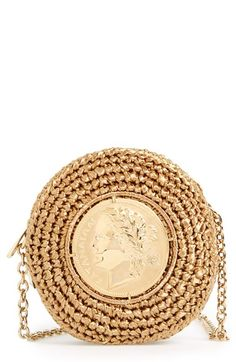 Dolce&Gabbana Coin Raffia Crossbody Bag available at #Nordstrom
