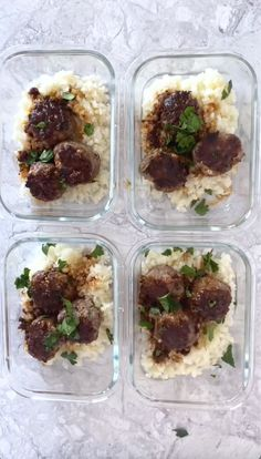 Need an easy meal prep keto lunch idea you can take to work? These super easy and quick low carb meatballs and cauliflower rice is great for when you need a low carb meal on the go that's also gluten free, grain free, and packed with flavor! The 30 minute keto dinner or lunch is so good you'll want to make it every week, and if you have some ground beef, mozzarella, and cauliflower, you have almost everything you need to make this delicious keto friendly meal! Healthy Low Carb Dinners, Healthy Low Carb Recipes, Low Carb Dinner Recipes, Low Carb Keto, Diet Recipes, Freezer Recipes, Keto Dinner, Kabob Recipes, Healthy Snacks