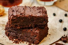 Jamie Oliver was right to name his chocolate brownies 'Bloomin' Brilliant'. These chocolate brownies make a fantastic dessert served with crème fraîche Protein Brownies, Healthy Vegan Brownies, Healthy Desserts, Dessert Recipes, Paleo, Zucchini Brownies, Nutella Brownies, Keto Brownies, Black Bean Brownies