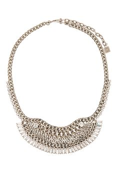 Dannijo Silver Curb Chain Lilith Necklace - on Vein - getvein.com