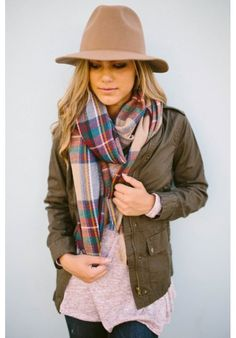 Our Allyssa Army green cargo jacket is the perfect fall piece - Use 'sarahdr' for a discount at Es Closet! #plaid