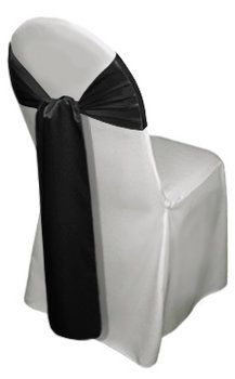 Wedding, Reception, White, Ceremony, Black, And, Chair, Cover