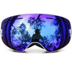 Kids Ski Goggles,Boys Girls Snow Snowboarding Glasses Snow/UV- Protection Multi-Color/ Double Anti-fog Lens Snowboard Ski Goggle