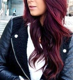 "Gorgeous ""cherry coke"" hair color. Not sure if it's right for your skin tone? Melinda will let you know!"