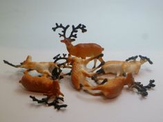 Plastic Deer Cupcake Toppers Set of 6 by LifeOnArborLane