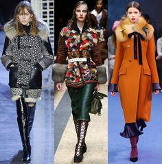 Модная женская одежда с мехом