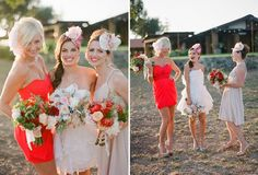LOVE ALL OF IT!!! hair flower, wedding hair, pink, white