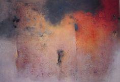 """Alvaro Pérez """"El ritual del fuego"""" Acrílico y  mixta sobre lienzo 230 x 160 cm. 2016"""