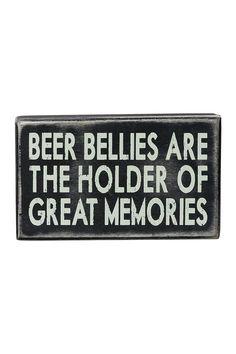 Beer Bellies Box Sign on @HauteLook