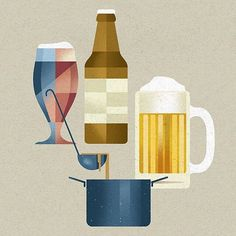 Hervorragend DIETER BRAUN Illustration For German Food Magazine DER FEINSCHMECKER DIY  Trend   Making Craft Beer #