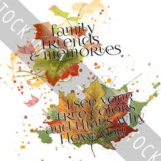 Autumn Leaves Blendable Elements - Vintage Leaves and Watercolor - Clipart - Clip Art - Fall Clipart - 8 PNGs - With and Without Text