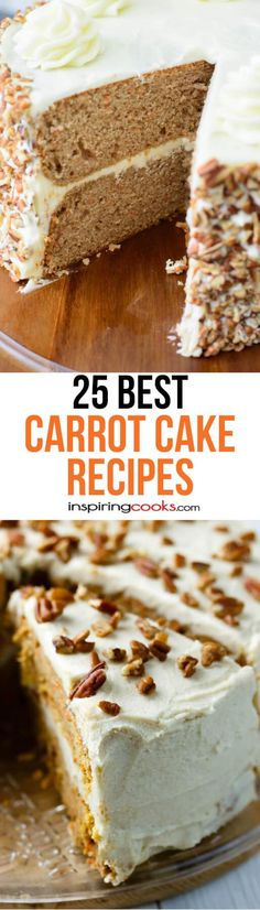 This is the best Paleo carrot cake recipe! Cookie Desserts, No Bake Desserts, Just Desserts, Delicious Desserts, Paleo Carrot Cake, Best Carrot Cake, Carrot Cakes, Sweet Recipes, Cake Recipes