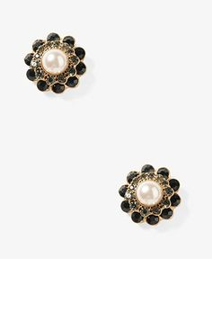 Rhinestoned Pearlescent Studs | FOREVER 21 - 1030531260