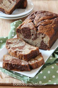 Marbled Chocolate Banana Bread Recipe from bakedbyrachel.com
