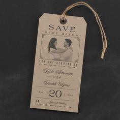 Typography Tags - Save the Date Card | dandilioncards