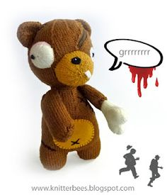 ZOombear- knit pattern for your very own Zombie Bear