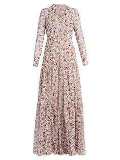 Denise floral-print silk-voile gown | Erdem | MATCHESFASHION.COM US