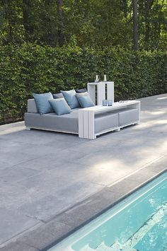 Lounge furniture for outdoor use at the pool. Tiiset - Borek