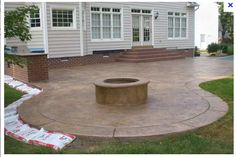 Stamped Concrete Patio w/ outdoor kitchen