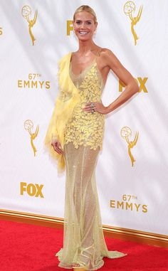 Heidi Klum from 2015 Emmys: Red Carpet Arrivals (Donatella you are losing your edge!)  In Versace