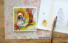 """Greeting card """"A New Life"""". By illustrator and painter Lone Aabrink ( www.aabrink.dk )"""