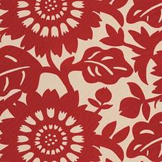 thomas paul fabric, stockholm cherry...  another cool fabric against turquoise