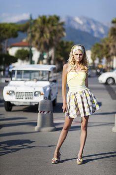 Pepita Beachwear Spring Summer 2014. Top, gonna e zeppe. Irresistibile! / Top, skirt and wedges. Irresistible! - Marie top, Bardot gonna, Brigitte zeppe