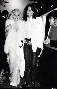 Michael and Madonna at Oscar after party at Spago 1991.