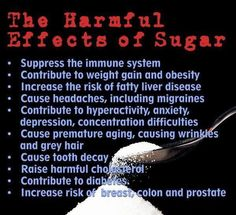 Danger of sugar