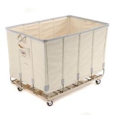 Always wanted one of these.....Dandux Canvas Basket Truck, Bulk Truck 10 Bushel - White