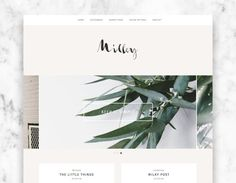 wordpress theme MILKY / minimalist wordpress template by ohwildshop