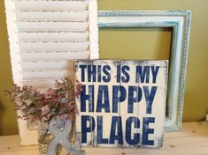 Wall Art, This is my happy place, Wood Insirational Signs,  Happy Place sign, My Happy Place, New Home Gift, Housewarming gift
