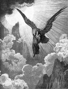 nigra-lux:  DORÉ, Gustave (b. 1832, Strasbourg, d. 1883, Paris) The Eagle: the dream of Dante (Divine Comedy, Purgatory, canto IX, vv. 31-33)EngravingEd. (Orig.)