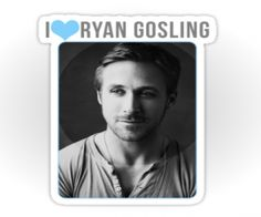 I Heart Ryan Gosling Stickers!  I know what I'm giving out for Christmas.