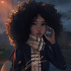 Find images and videos about black, art and melanin on We Heart It - the app to get lost in what you love. Black Love Art, Black Girl Art, Black Girls, Arte Dope, Dope Art, Anime Negra, Art Noir, Black Girl Cartoon, Black Art Pictures