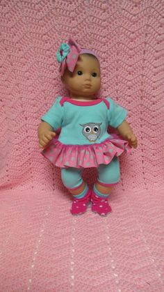 AMERICAN GIRL Bitty Baby Clothes Little Gray Owl by TheDollyDama