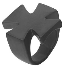 Men's black plated classic big Cross finger ring,stainless steel fashion band biker ring jewelry,size 7-13 ,ring ring
