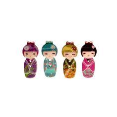 Botão kokeshi para artesanato, patchwork, scrapbook, roupas.