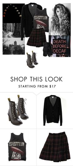 """""""Untitled #364"""" by witchblood ❤ liked on Polyvore featuring Dr. Martens and H&M"""