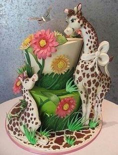 baby shower cake By Rosebud Cakes Wedding Cake Baby Shower Cake Crazy Cakes, Fancy Cakes, Cute Cakes, Pretty Cakes, Pink Cakes, Unique Cakes, Creative Cakes, Gorgeous Cakes, Amazing Cakes