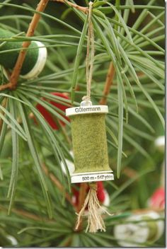 Thread Spool and Button Garland