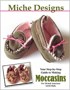 Moccasins Doll Shoe Pattern For American Girl Dolls. Download, Print, Create!