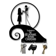Nightmare Before Christmas Spiral Hill Metal Key Hooks - Neca - Nightmare Before Christmas - Home Decor at Entertainment Earth