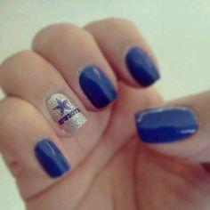 Cowboys nail art