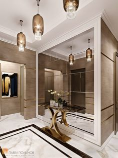 Hallway Designs, Hallway Ideas, Luxury Interior Design, Interior Decorating, Home Room Design, House Design, Entrance Hall Decor, Flur Design, Lobby Design