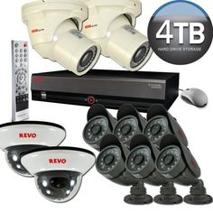 Revo RE16BNDL21-4000 Elite Bundle 16-Channel Security System with 4TB DVR by Revo. $1599.99. This system combines the best of REVO products. Starting with the 16 Channel REVO professional DVR that delivers commercial grade type features at affordable prices, two commercial grade indoor/outdoor turret cameras (RETRT600-1), six REVO indoor/outdoor bullet cameras (RCBS12-2) and two REVO indoor dome cameras (RCDS12-2). The advanced 16 channel DVR produces 480 Images ...
